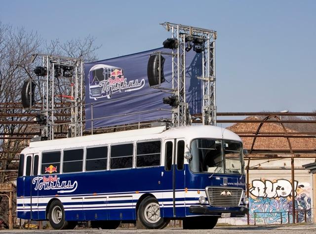 red bull bus