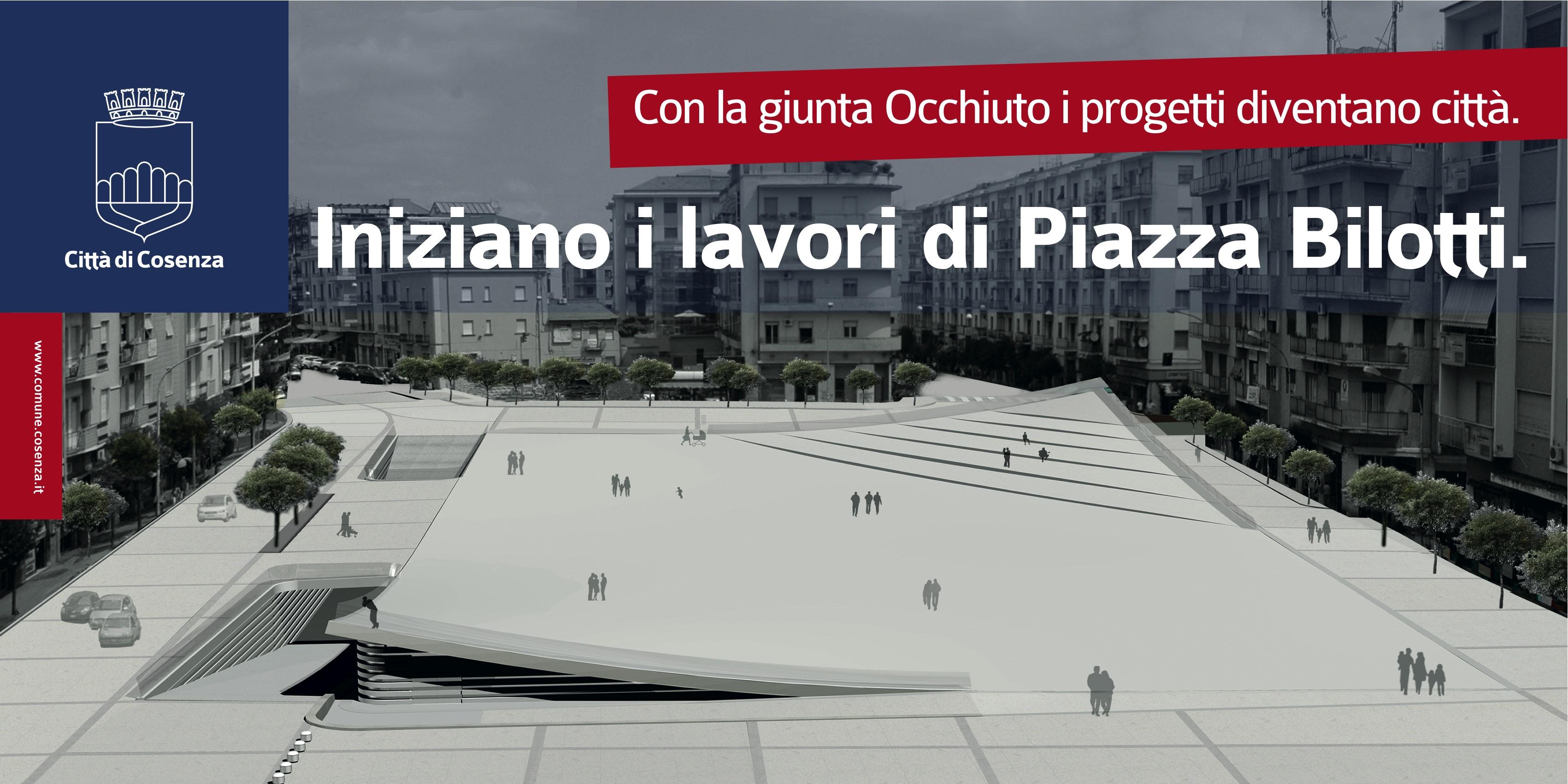 progetto piazza Bilotti