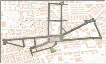 strade collegamento piazza Bilotti