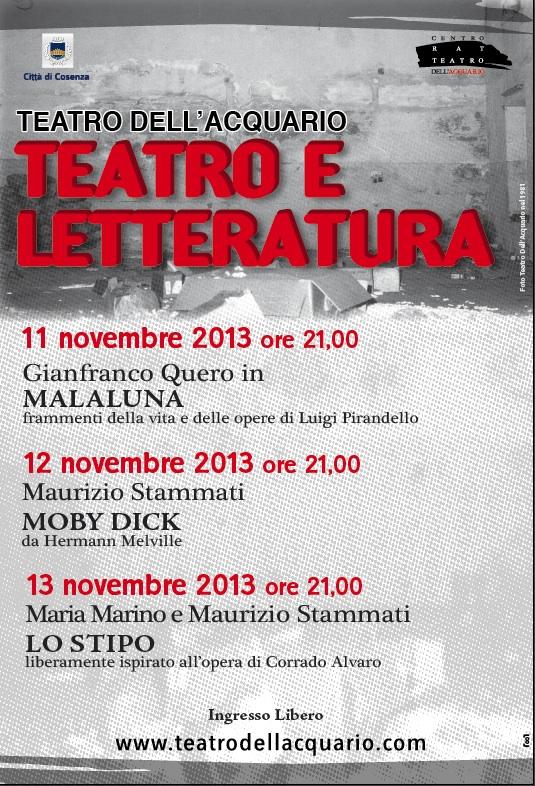 teatro letteratura
