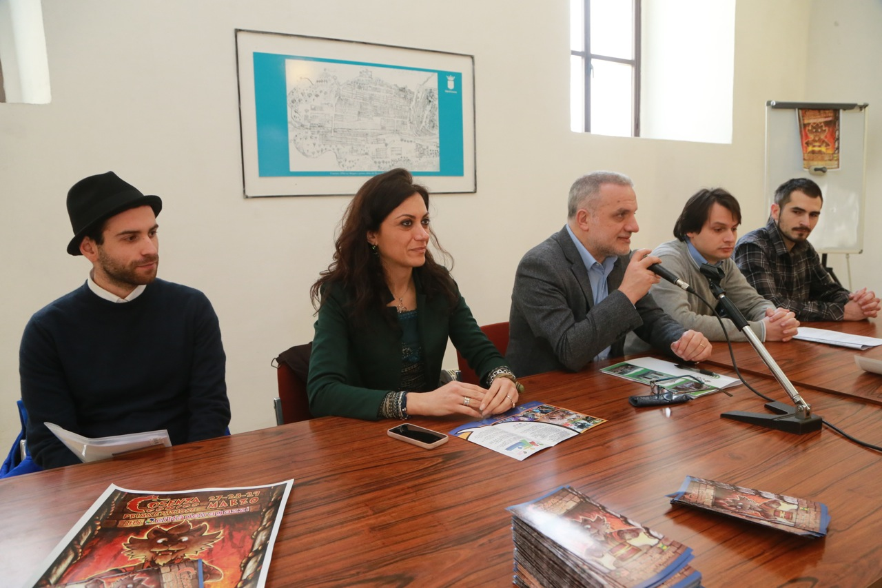 conferenza stampa cosenza comics