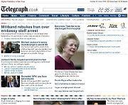 Sito The Telegraph giornale