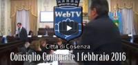 Consiglio Comunale 1 febbraio 2016