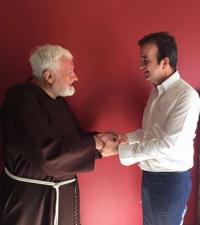 il Sindaco Occhiuto e Padre Fedele Bisceglia