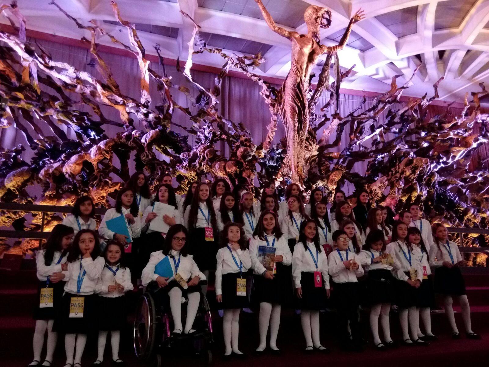 il piccolo coro del rendano in vaticano