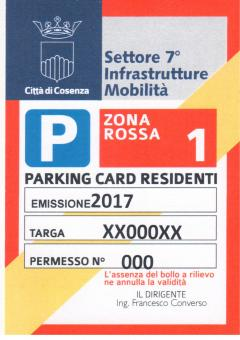 parking card 2017