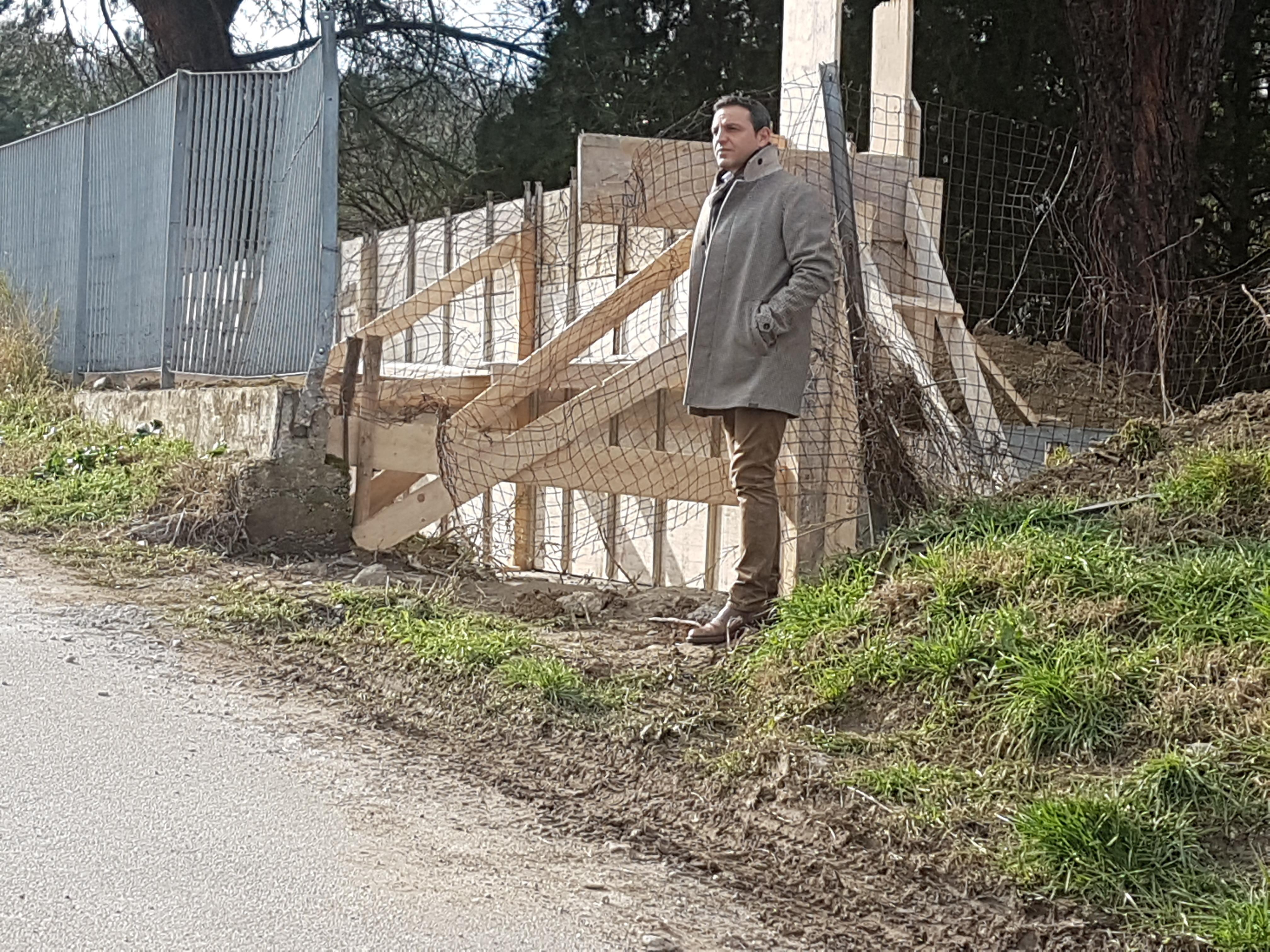 assessore caruso sul cantiere di via dell\'accoglie