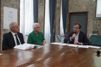 Conferenza stampa sull\'acqua Occhiuto Molinari Ros