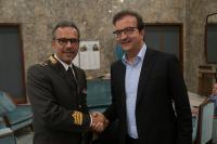 Occhiuto e Massimo Cundari Comandante Vigili del F