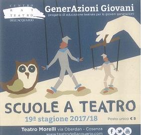 scuole a teatro 2017