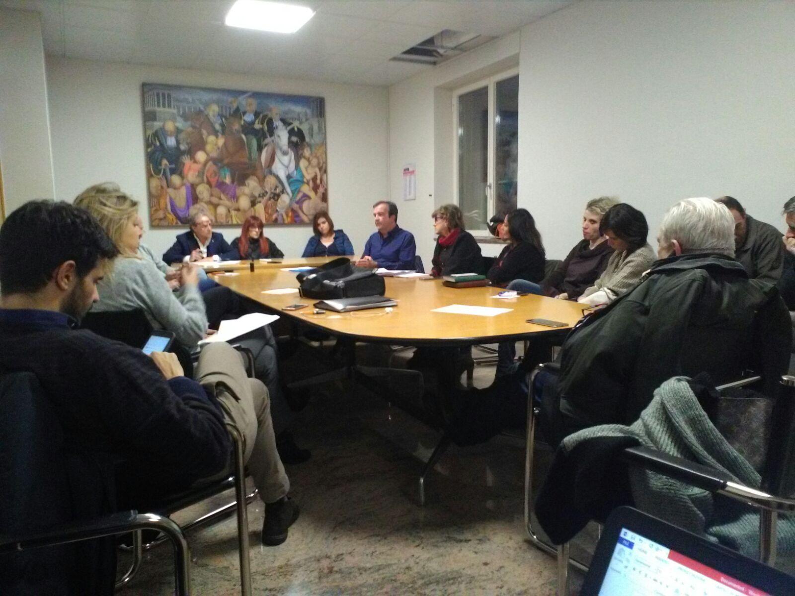 la seduta congiuna delle commissioni sanità e urba