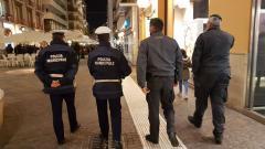 Polizia Municipale e Guardia di Finanza sul corso