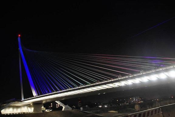 Ponte di Calatrava in notturna bella