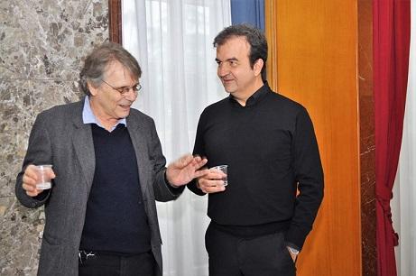 Daniel Pennac e sindaco Occhiuto a palazzo dei Bru