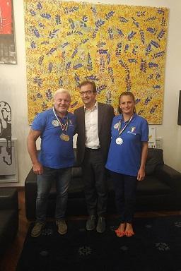 Occhiuto con Francesco Sesso e Alessandra Pagliaro
