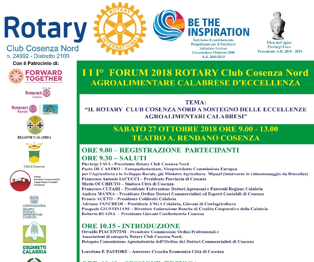 Forum agroalimentare Rotary