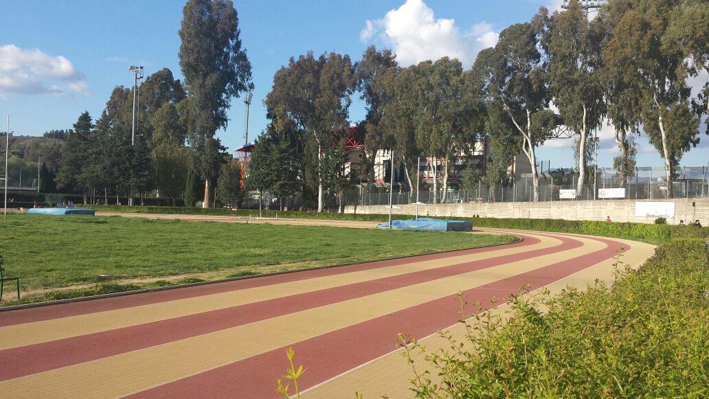 la pista di atletica del Campo Scuola
