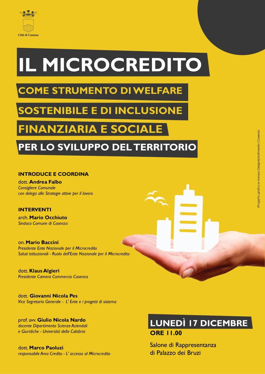 locandina iniziativa sul microcredito