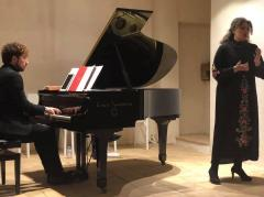 il pianista Andrea Bauleo e il soprano Silia Valen
