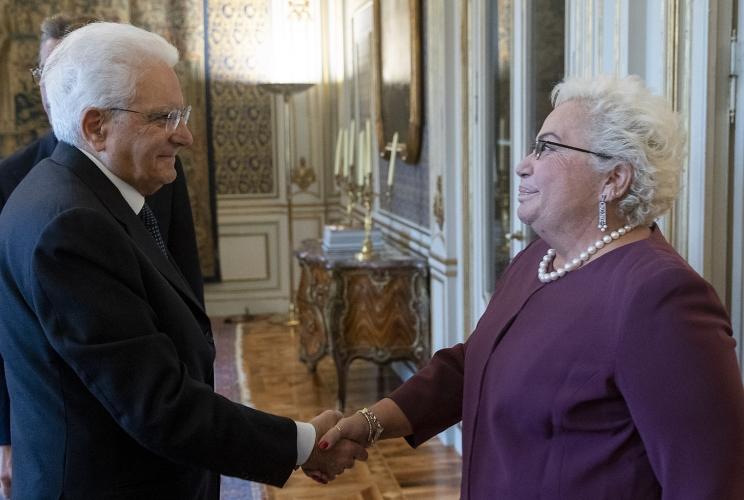 Clelia Piperno con il Presidente della Repubblica