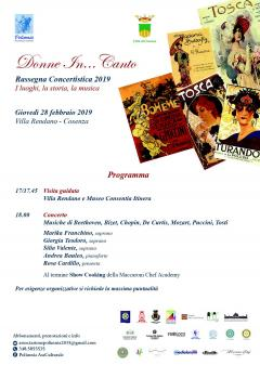 locandina Donne In...Canto