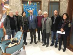 la delegazione degli alpini a Palazzo dei Bruzi