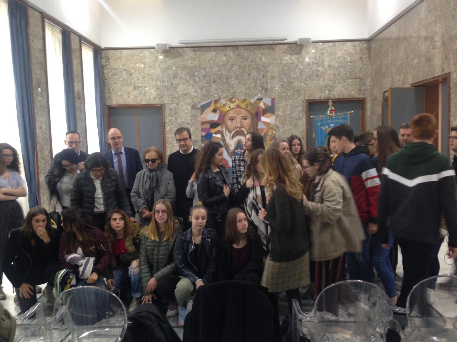 la visita degli studenti francesi
