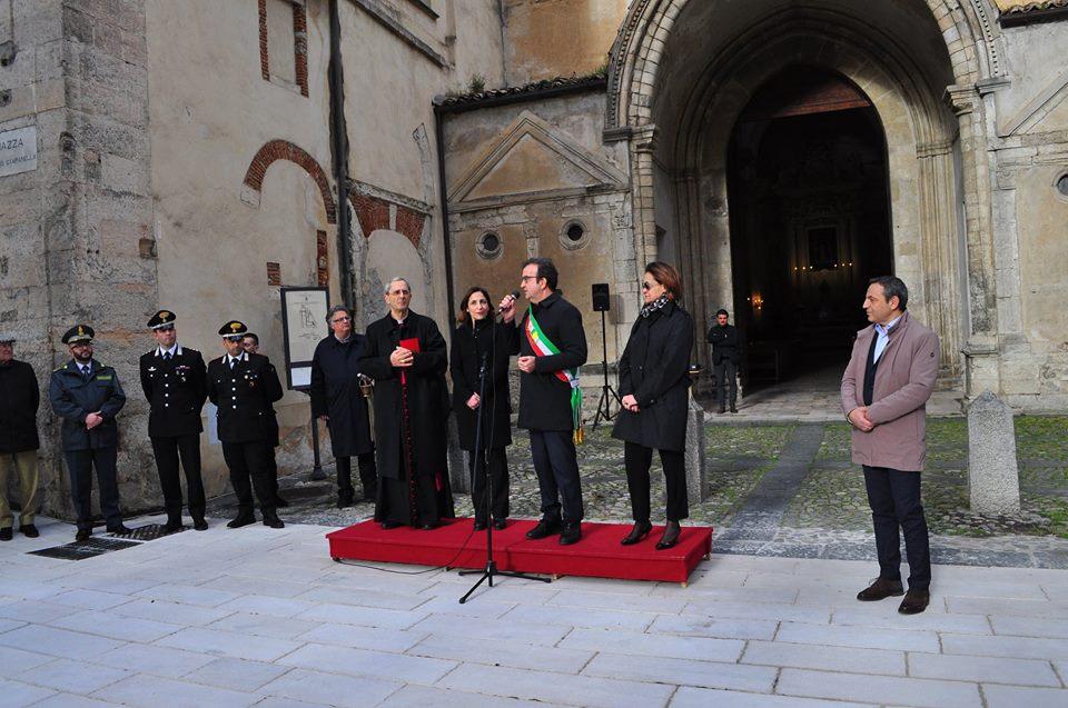 l\'inaugurazione di Piazza Tommaso Campnalle