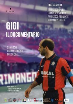la locandina del documentario su Gigi Marulla