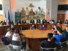la visita degli studenti dell\'Istituto Alberghiero