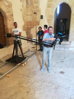 un momento della lavorazione del cortometraggio