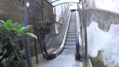 le scale mobili del centro storico