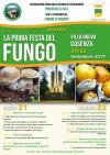 la locandina della festa del fungo