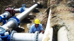 i lavori sulla rete idrica