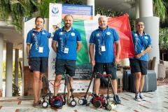 Francesco Sesso e i compagni di squadra