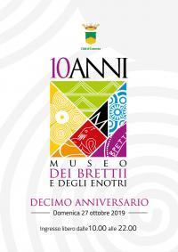 la locandina del decimo anniversario del Museo dei