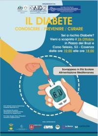 locandina giornata di prevenzione del diabete