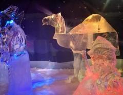 una foto del presepe di ghiaccio
