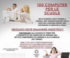 locandina 100 computer per le scuole