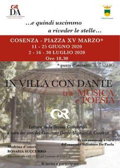 locandina In Villa con Dante
