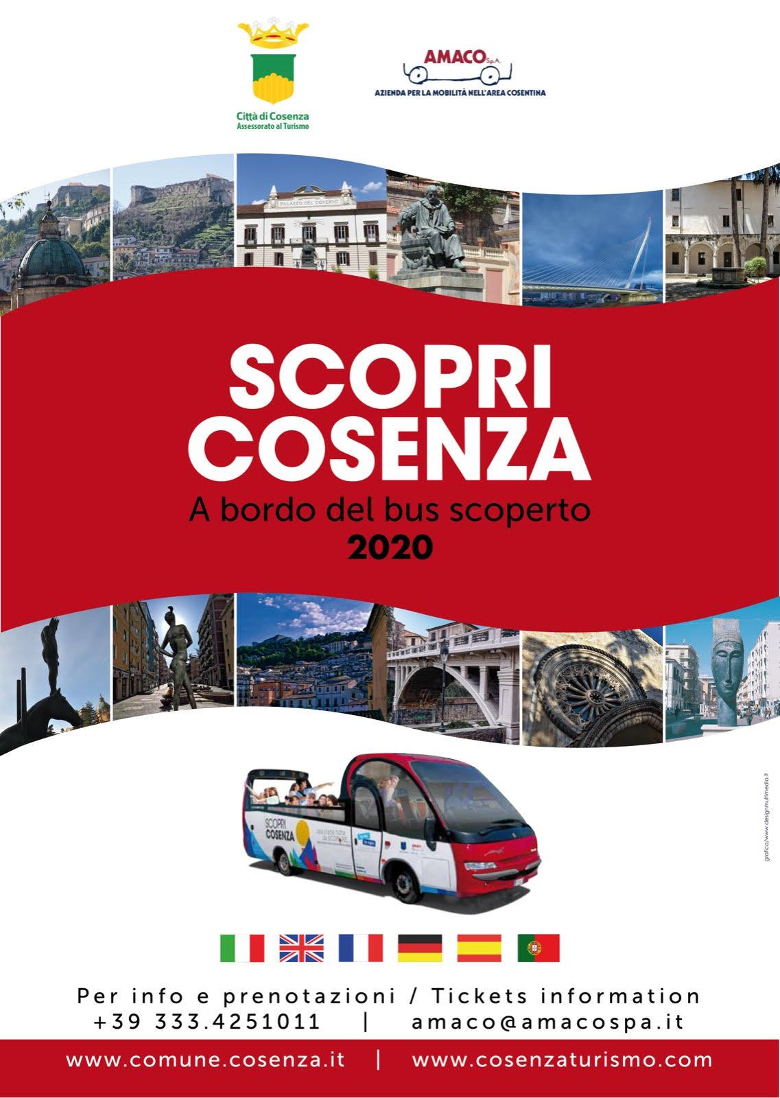 la locandina del servizio turistico Scopri Cosenza