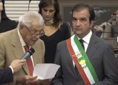 il dottor Sergio Giuliani e il Sindaco Occhiuto