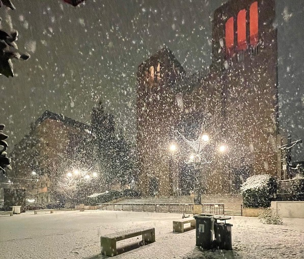 la neve su Cosenza