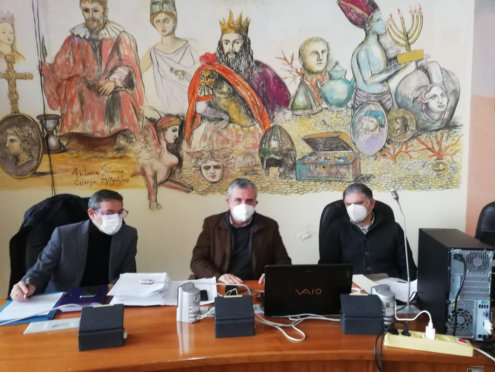 il Vicesindaco Caruso e il Presidente della commis