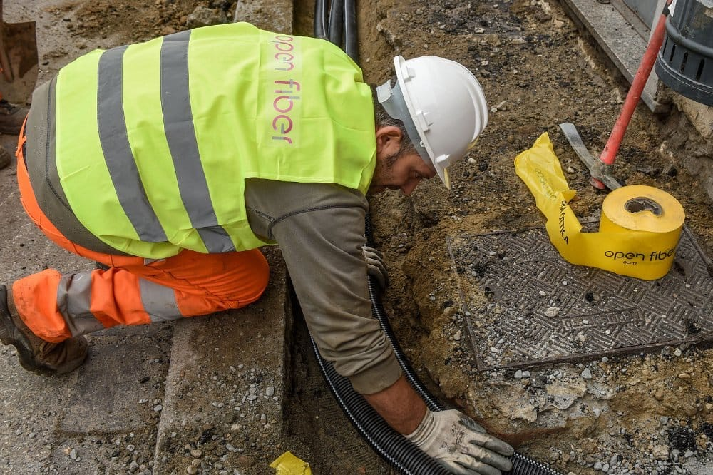 i lavori della fibra ottica