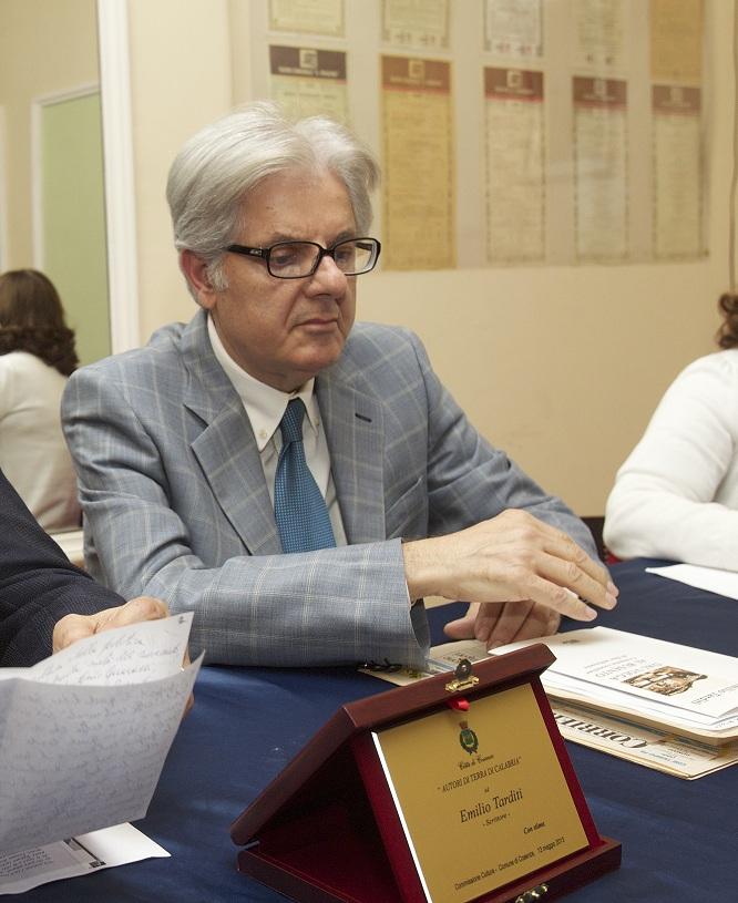 lo scrittore Emilio Tarditi