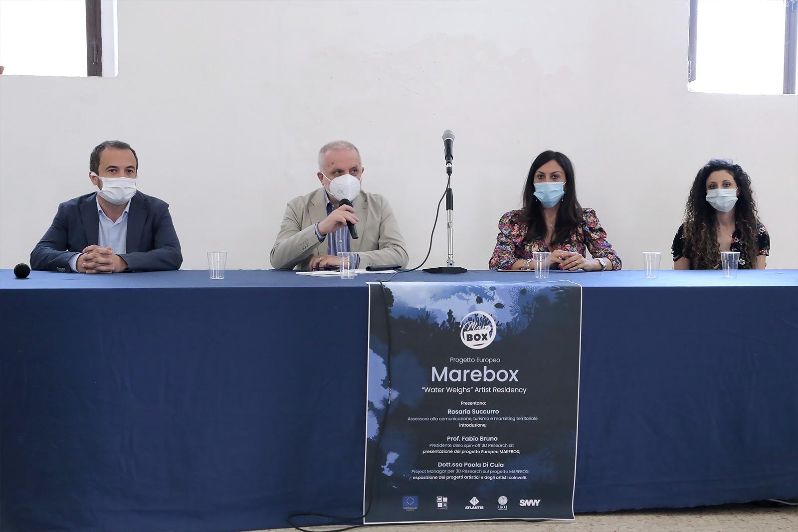 la conferenza stampa di presentazione di Marebox