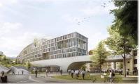 il rendering del nuovo ospedale
